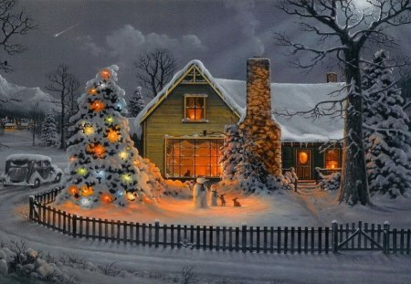 Christmas House Other Abstract Background Wallpapers
