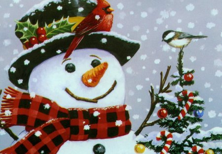 Snowman Christmas Fantasy Abstract Background