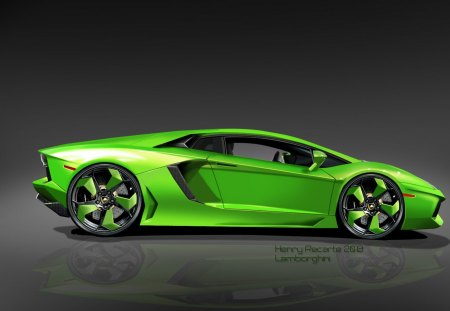 green sports car wallpaper - photo #16