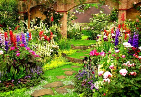 Spring Garden Flowers Nature Background Wallpapers On