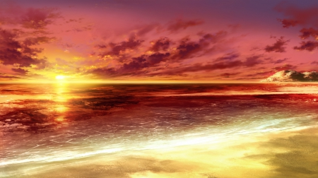 sunset other amp anime background wallpapers on desktop