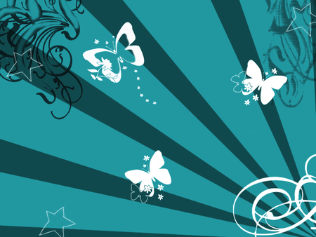 teal butterfly wallpaper