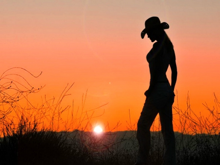 cowgirl silhouett wallpaper - photo #27