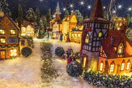 old fashioned christmas town wallpaper - photo #36