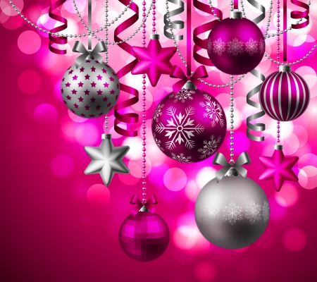 pretty in pink ornaments other amp abstract background