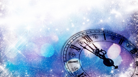 New Years Clock Other Amp Abstract Background Wallpapers