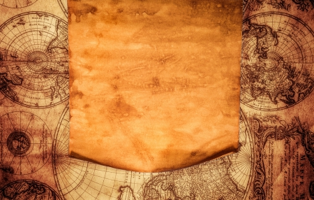 Old Paper And Map Other Abstract Background Wallpapers