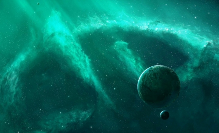 green universe planets amp space background wallpapers on