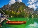 Summer At Braies Lake, Italy
