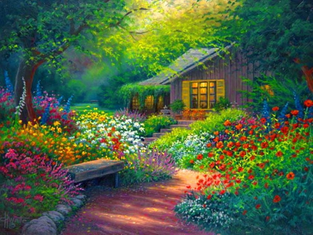 Fairytale Cottage Other Amp Abstract Background Wallpapers