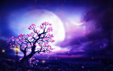 spring night fantasy fantasy amp abstract background