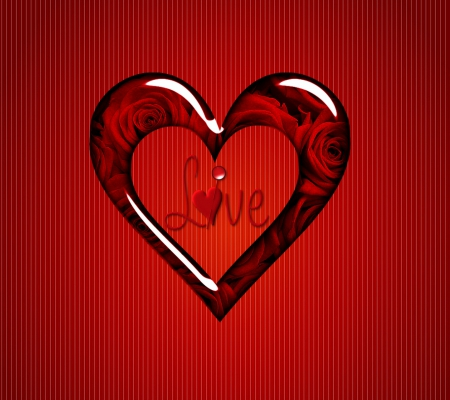 Beautiful red love heart - 3D and cG & Abstract Background Wallpapers on Desktop Nexus (Image ...