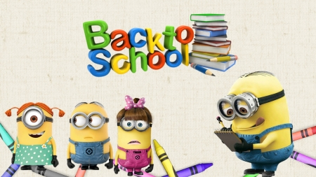 minions back to school movies entertainment background