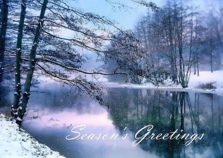 Winter Pond Winter Nature Background Wallpapers On