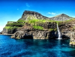 Waterfall on Hawaiian Islands