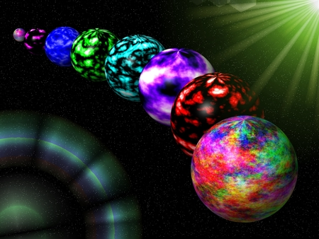 colorful 3d wallpaper planets - photo #32