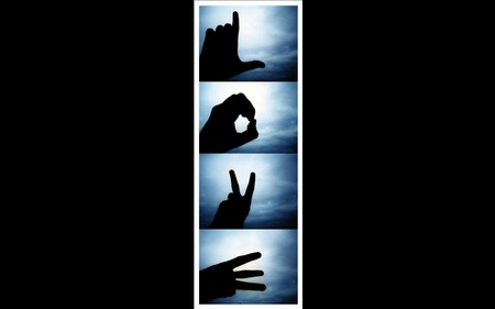 Love Sign Language Vertical - Other & Abstract Background ...