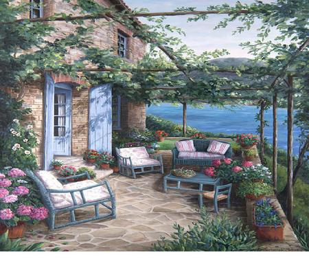 Provence Houses Architecture Background Wallpapers On
