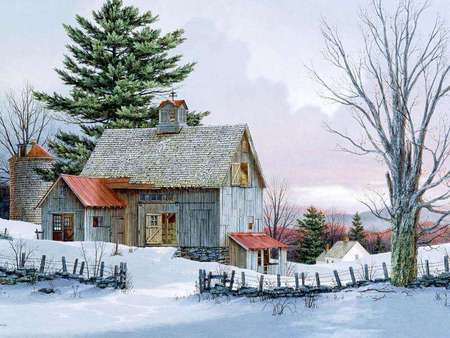 Beautiful old country barn farms architecture background wallpapers on desktop nexus image - Winter farm scenes wallpaper ...