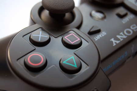 PS3 Joystick - Playstation Console & Video Games Background Wallpapers HD Wide Wallpaper for Widescreen