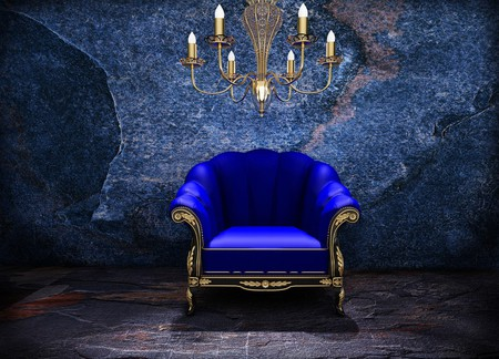 Gold kings chair - Blue Chair Other Amp Abstract Background Wallpapers On