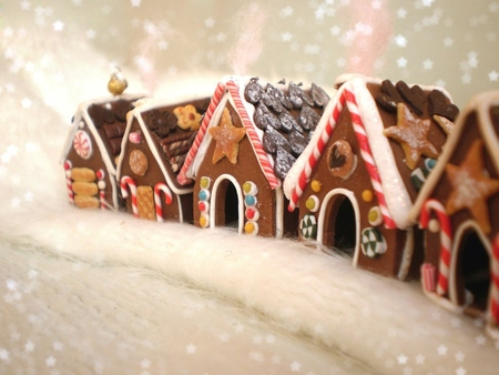 gingerbread village photography abstract background