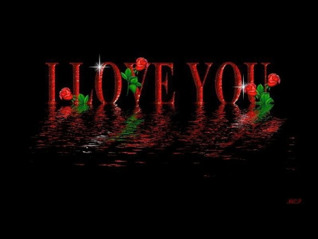 I LOVE YOU Reflection - 3D and cG & Abstract Background Wallpapers on Desktop Nexus (Image 945709)