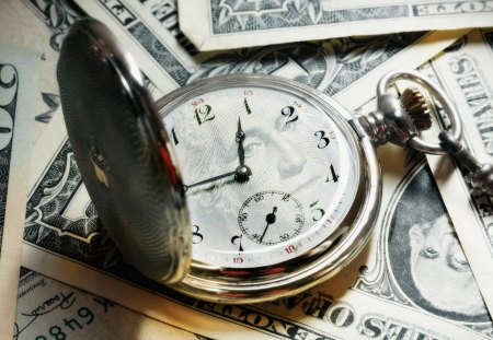 Money Time - taxes, pocket watch, time, usa, george washington, tax, loss, greenbacks, spend, stocks, clock, vintage, money, bank, bills