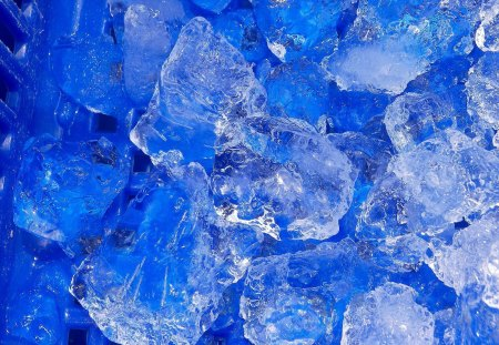 Blue ice for summer cooling - ice, cool, winter, blue, summer, aqua, water