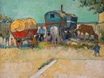 Vincent Van Gogh ~ The Caravans Gipsy Camp near Arles