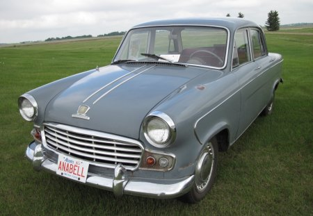 Grey Vanguard  in the car show - green, photography, nickel, grey, grass, tree, vanguard, car