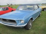 1968 Ford Mustang in the car show