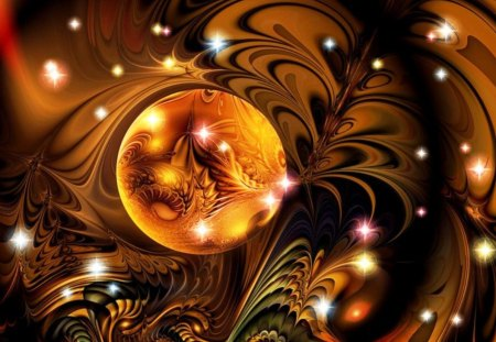 Fractal nocturnal - multicolored, beautiful, colorful, abstract, fractal, art, imagination, wallpaper, nocturnal