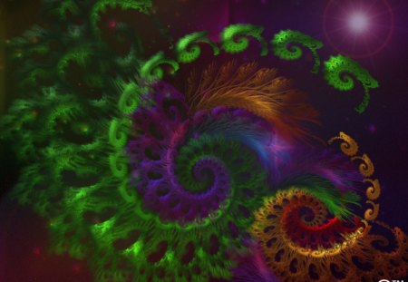 Fractal Dream World - dreams, fractals, lens flares, time, worlds, makebelieve, magical