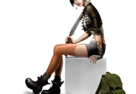 Little Devil - cool, style, girl, fashion, tattoo, shoes, bag, stylish, cg