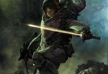 Shrapnel - adventure, shrapnel, game, girl, stunning, action, rescue, soldier, sword, fantasy, cg