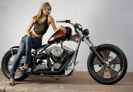 Classic chopper - history, beauty, moto, girl, chopper, 69, classic, cycle, harley