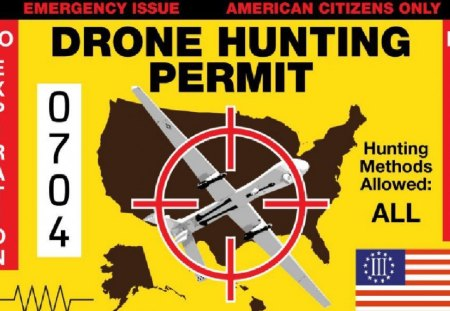 Drone hunting permit - spying, drone, hunting, military, police