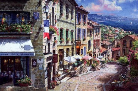 Street in france - france, beauty, street, paint