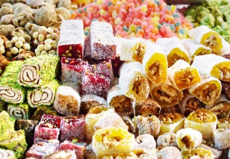 Turkish Sweets - turkish, chocolate, candy, sweet