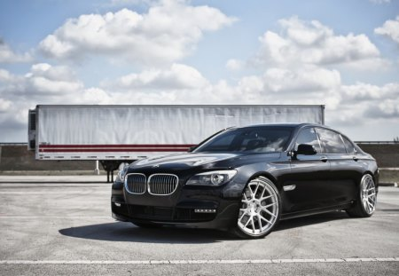 BmW - tuned, bmw, rims, black, big