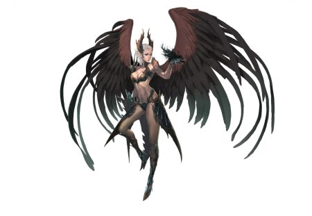 sorceress - wings, sorceress, artwork, armor, magic, fantasy