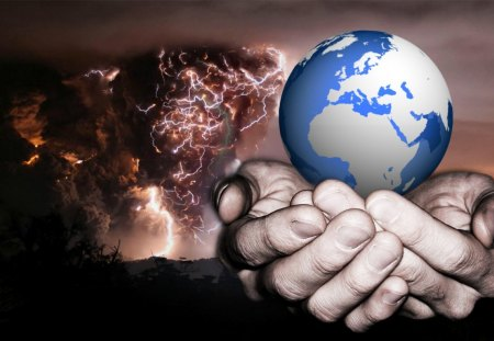Saving The World - earth, save, smart aleck, wahab hameed, world, eruption
