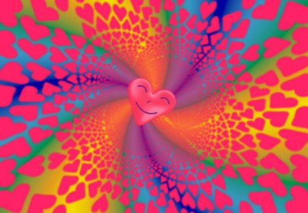 A Merry Heart Doeth Good Like a Medicine - multicolored, co11ie, orange, blue, celebration, yellow, purple, party, cheery, swirls, violet, love, rainbow hues, red, green, Bible Verse, Valentines Day, Hearts, happy, va1entine, happi, smiling, Proverbs