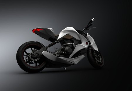 Cool bike - dark, wallpaper, sexy, white