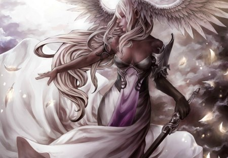 Warrior Angel - wings, warrior, fantasy, angel