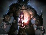 Dragon Age Origins Morrigan & Monster