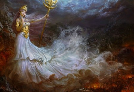 Queen of fantasy - sorcerer, splendor, colors, queen, fantasy, beauty