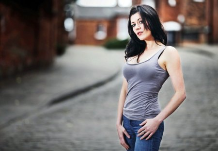 SEXY BABE IN JEANS - Models Female & People Background Wallpapers ...
