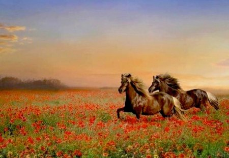 horses and flowers wallpaper - photo #22